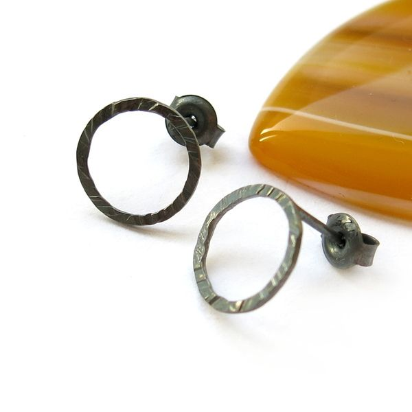 Earstuds, hammered wheels 11mm from ajjstudios by DaWanda.com