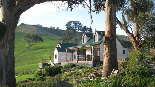 Two Cottages Through Trees - Gippsland
