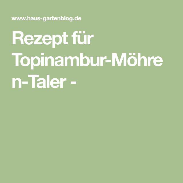 Rezept für Topinambur-Möhren-Taler -