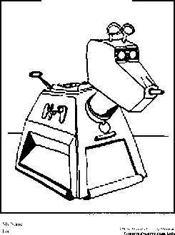 Dr Who Coloring Pages K 9