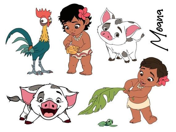 10 Disney Moana Svg Vector Cliparts Hei Hei And Pua Svg Baby Moana Clipart Cutfiles In Png Eps A Moana Drawing Disney Moana Moana