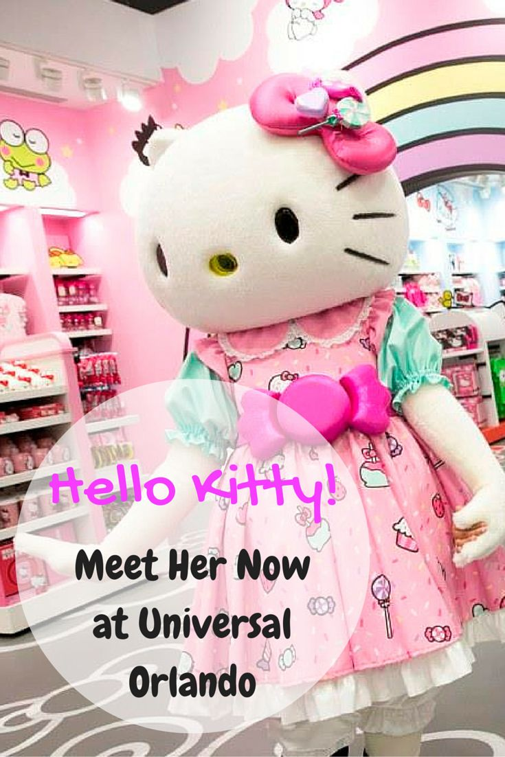 Hello Kitty! Find Out How to Meet Her at Universal Orlando, The Hello Kitty Shop is now open in Universal Studios Florida, Sign up for my mailing list and get a FREE eGuide - 5 Steps to Book your Disney World Vacation http://eepurl.com/9ct_r