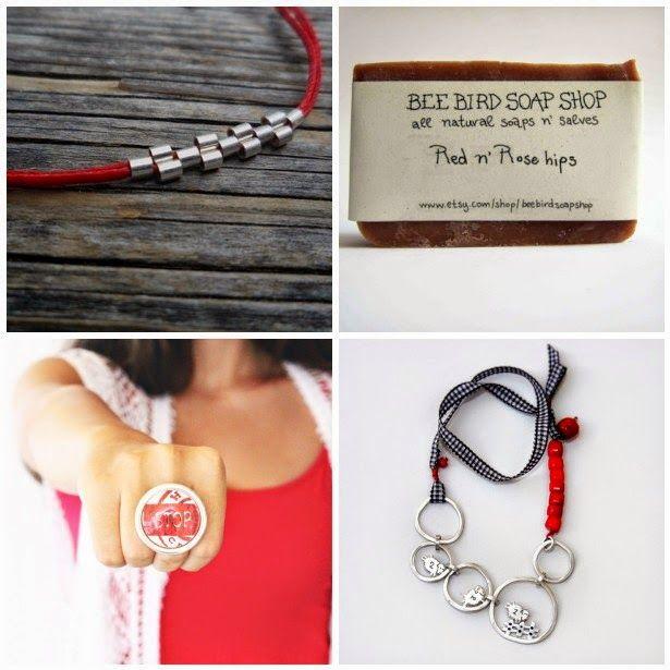 Etsy Greek Street Team: Items of the week - Red