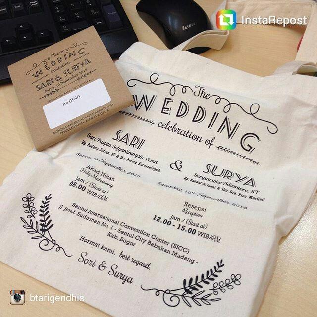 repost via @instarepost20 from @btarigendhis Karena tak selalu wedding invitation terbuat dari kertas... #tasblacu #souvenirtas #undangantas #souvenirnikah #undanganpernikahan  Info : Wa : 081390989077#instarepost20