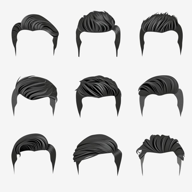 Set Of Men S Hairstyles Hipster Hair Hipster Hair Haircut Png And Vector With Transparent Background For Free Download Hair Illustration Hipster Hairstyles Hair Vector