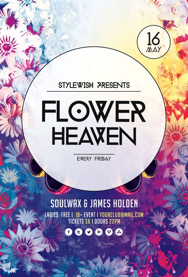 Flower Heaven Flyer by ~styleWish on Graphicriver