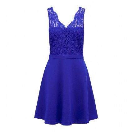 Mya Lace Bodice Skater Dress
