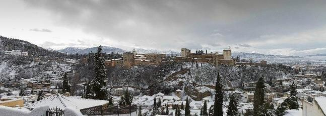 Un manto blanco para Granada