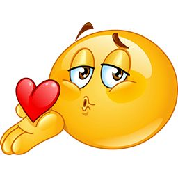 Here Is My Heart Emoticon