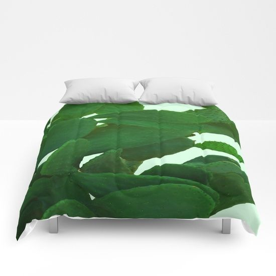 Cactus On Cyan Background Comforters by ARTbyJWP #comforters #bedroom #cactus #green #homedecor  ---   Our comforters are cozy, lightweight pieces of sleep heaven. Designs are printed onto 100% microfiber polyester fabric for brilliant images and a soft, premium touch. Lined with fluffy polyfill and available in king, queen and full sizes. Machine washable with cold water gentle cycle and mild detergent.