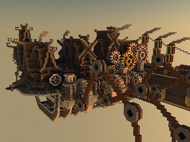 Steampunk Moving city Minecraft Project | Awesome Zone ...