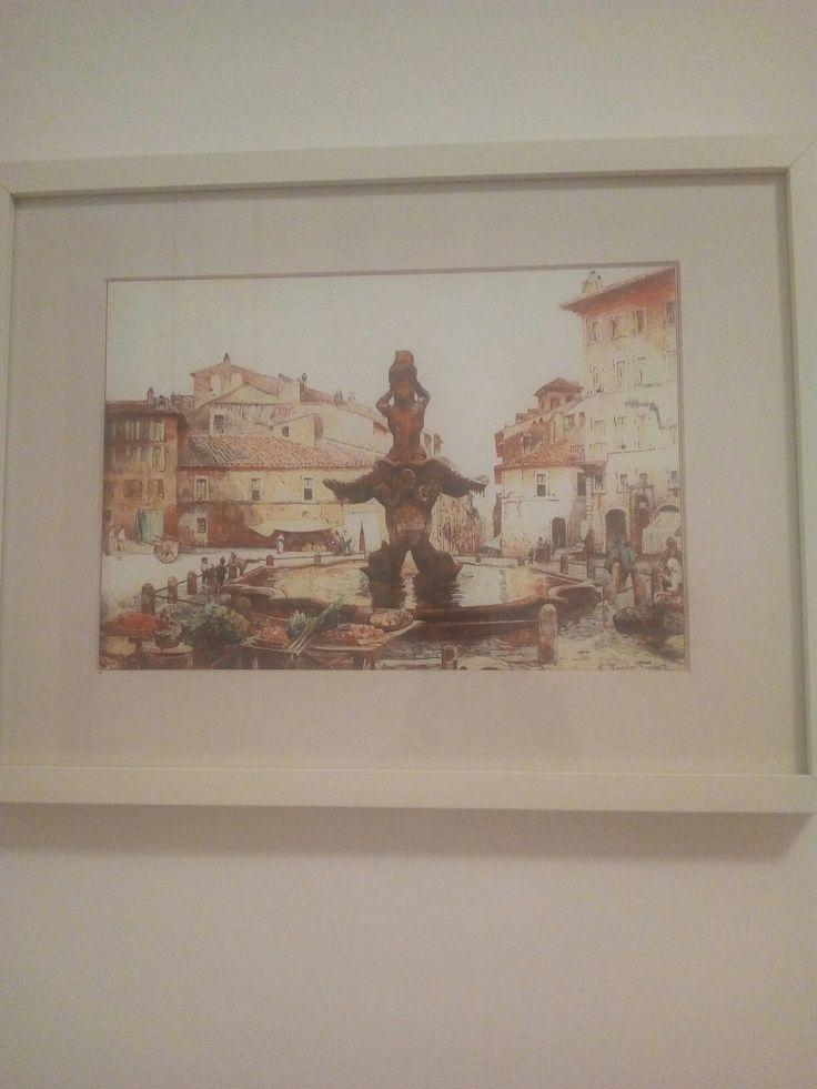 Quadri creati con i dipinti di Roesler Franz Roma sparita moustachehouse.it