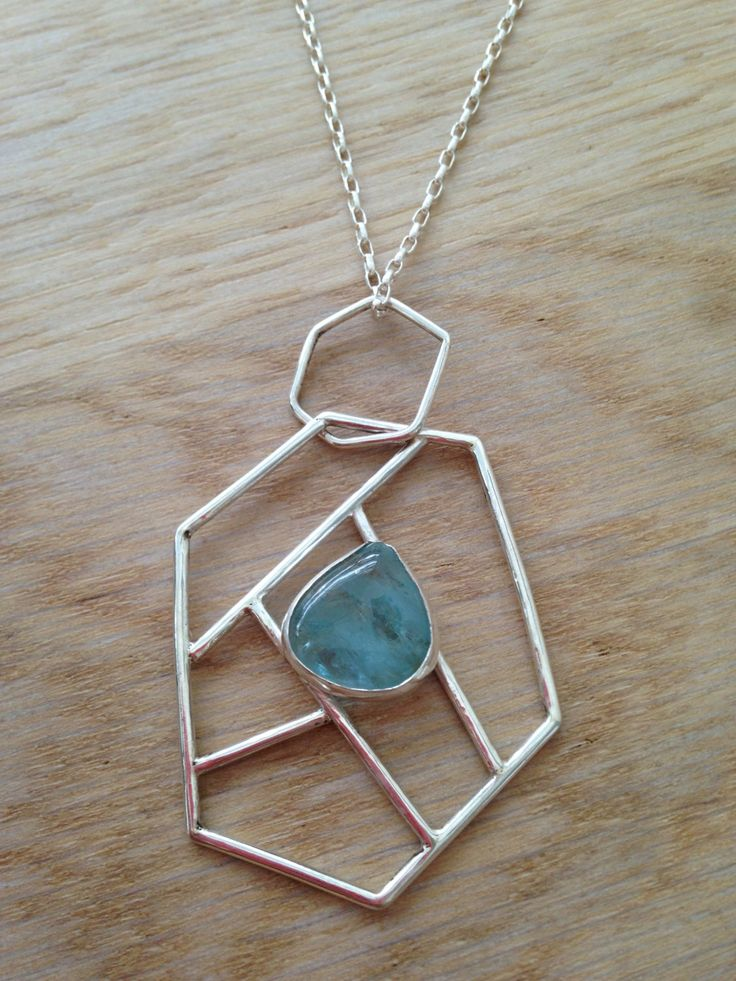 A personal favorite from my Etsy shop https://www.etsy.com/listing/216470673/silver-pendant-with-aqua-stone