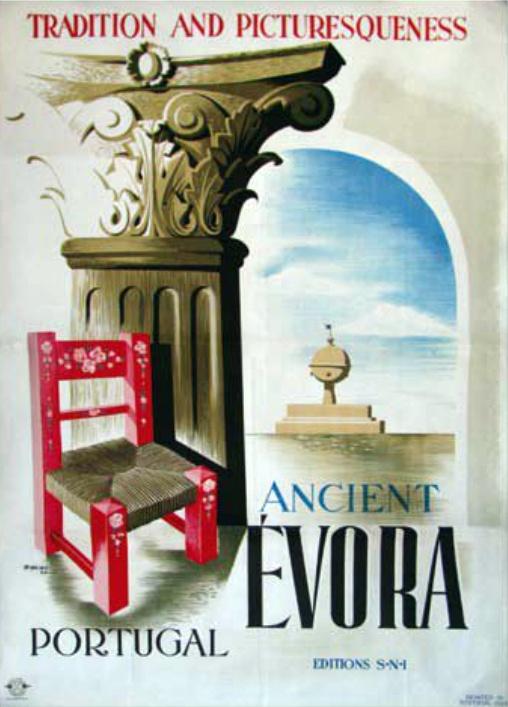 """""""Evora"""" by Ribeiro - 1947"""
