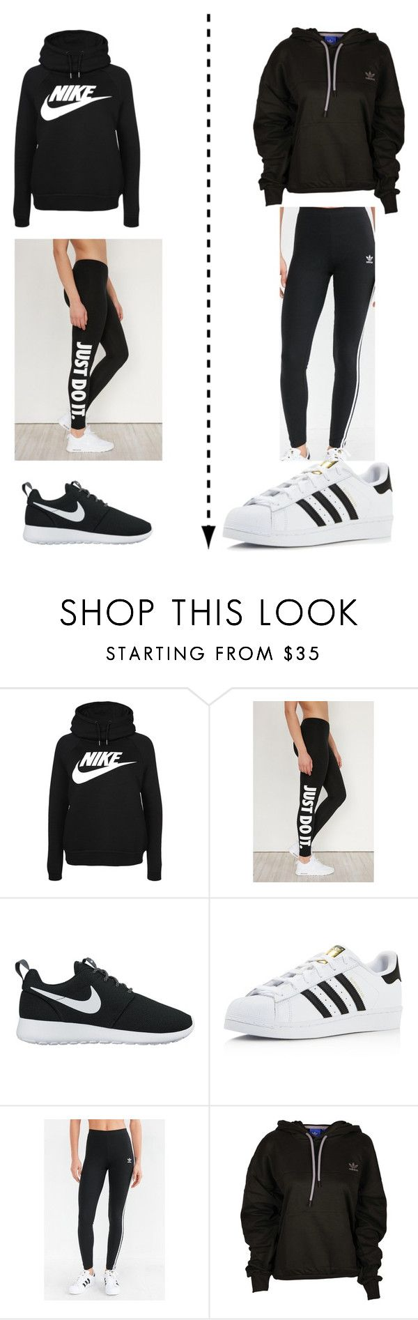 """""""Which one do you like better?"""" by queen7901 ❤ liked on Polyvore featuring NIKE and adidas"""