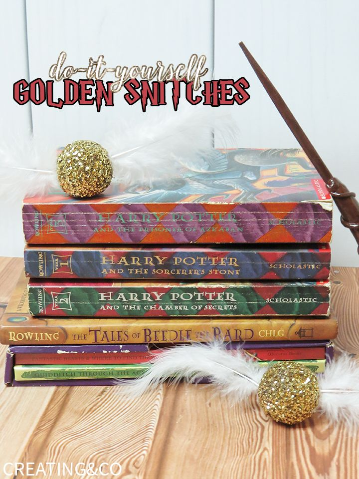 These DIY golden snitches are perfect as room decor, party decor or even to use in your own Quidditch game! Every Harry Potter fan will love them!