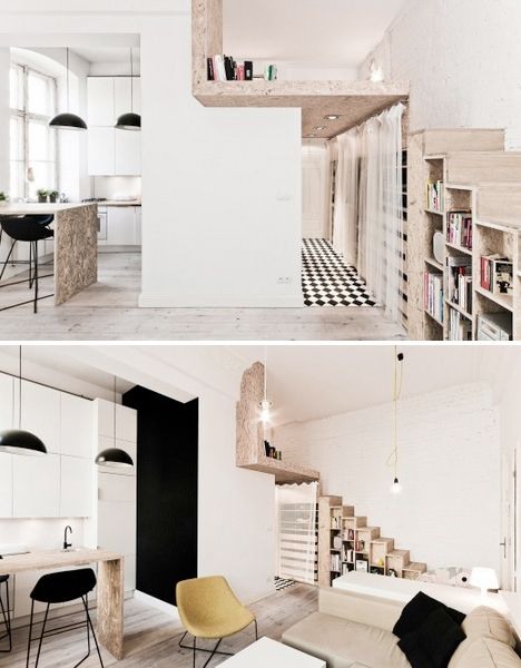 Steps to Saving Space: 15 Compact Stair Designs for Lofts  This is a really great loft.  I would want a lot of hideways and cubby holes in my dream home.