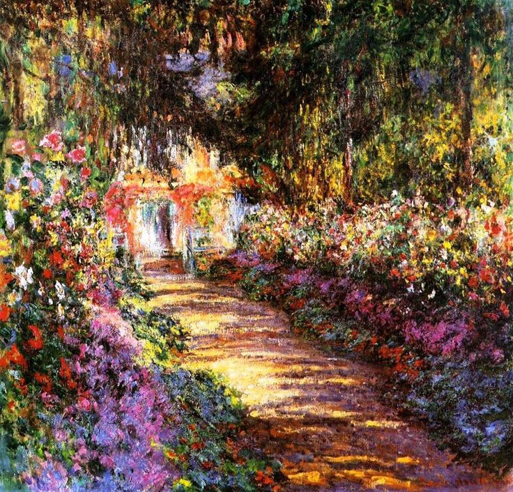 Claude Monet (1840-1926) Pathway at Giverney