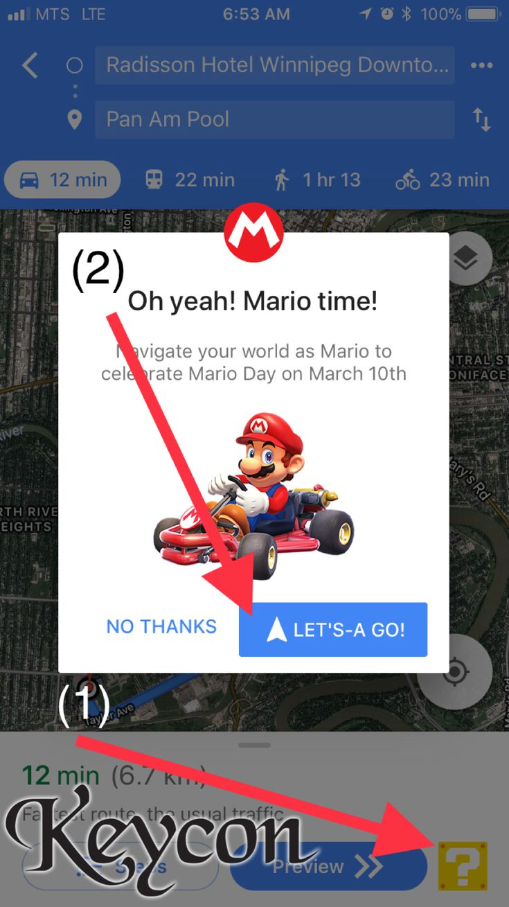 Do you have idle time while you wait for #Keycon 35? Do you have Google Maps on your phone?  It's a Mar10 time!  https://lifehacker.com/how-to-turn-google-maps-into-mario-kart-1823635766
