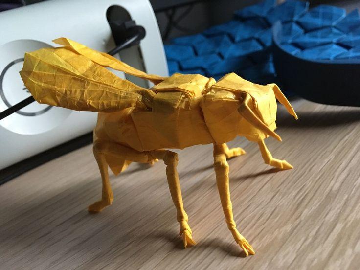 Origami Yellow Jacket/wasp (designed
