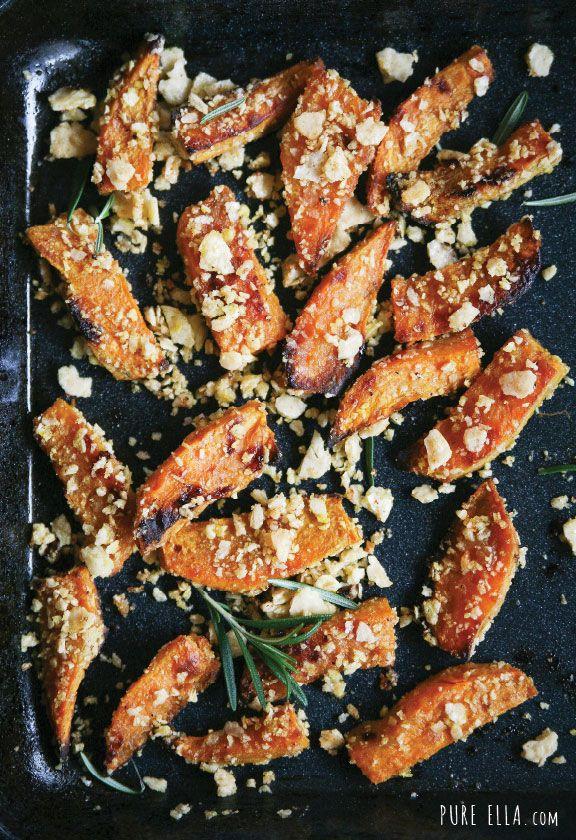 Crispy Sweet Potato Wedges #glutenfree #vegan #thanksgiving