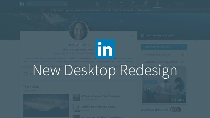 Today, we're excited to share our new look! This complete overhaul of our technology architecture is the largest desktop redesign since LinkedIn's inception, and we've taken a thoughtful approach to ensure we're delivering a simplified LinkedIn experience that's more intuitive, faster and creates more value for our members.