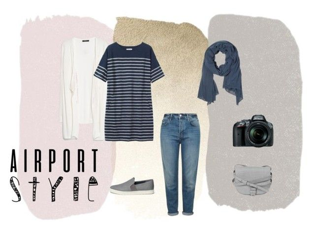 """""""Airport/ Travel Style"""" by nourc ❤ liked on Polyvore featuring MANGO, Toast, Topshop, Vince, Little Liffner, Nikon, Summer, moda, hijab and polyvoreeditorial"""