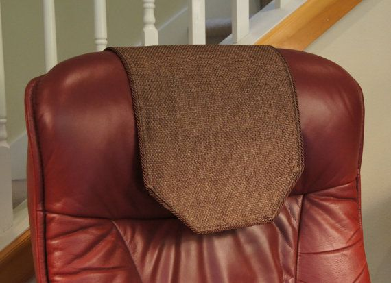 Recliner Chair Headrest Cover Chocolate Burlap by ChairFlair & 23 best Headrest Covers images on Pinterest | Recliners Recliner ... islam-shia.org