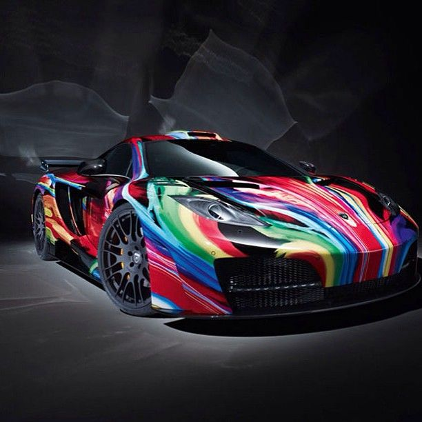 McLaren MP4 12C drove into a rainbow and this is the outcome!