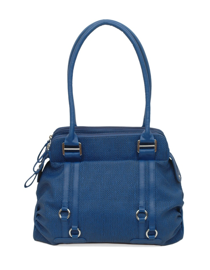 A striking blue textured bag by Baggit.
