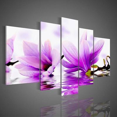 print on 5 canvas panels