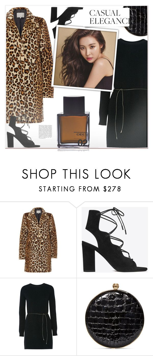 """""""1201"""" by melanie-avni ❤ liked on Polyvore featuring InWear, Yves Saint Laurent, Helmut Lang, Alexander McQueen and Odin"""