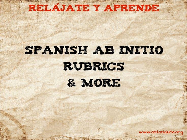 Spanish ab Initio rubrics Antonio Luna
