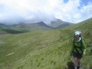 Sehlabathebe mountains in Lesotho