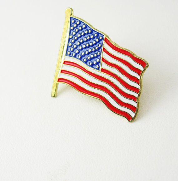 US American Flag Lapel Pin Vintage Tie Tac by NeatstuffAntiques, $40.00