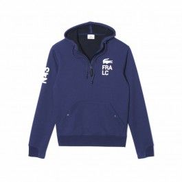 Motif fleece sweatshirt, Navy Blue