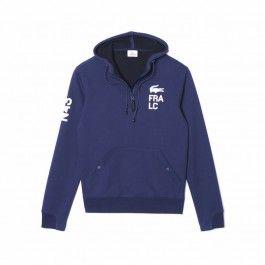 Motif fleece sweatshirt, Navy Blue