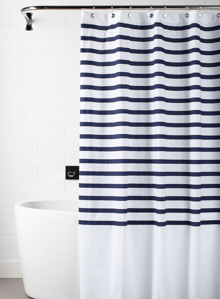 Deauville stripe shower curtain - Shower Curtains | Simons