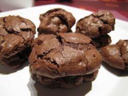Biscuits soufflés au chocolat