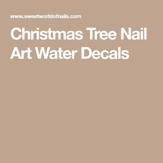 Christmas Tree Nail Art Water Decals