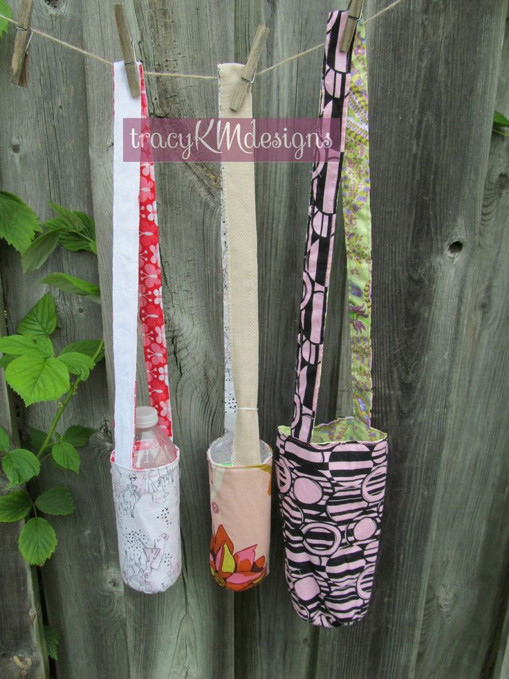 Reversible water bottle holders.  Various sizes.  $12 each or 2/$22 plus shipping