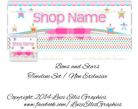 Bows and Stars Facebook Timeline Banner & by LuziEllisGraphics