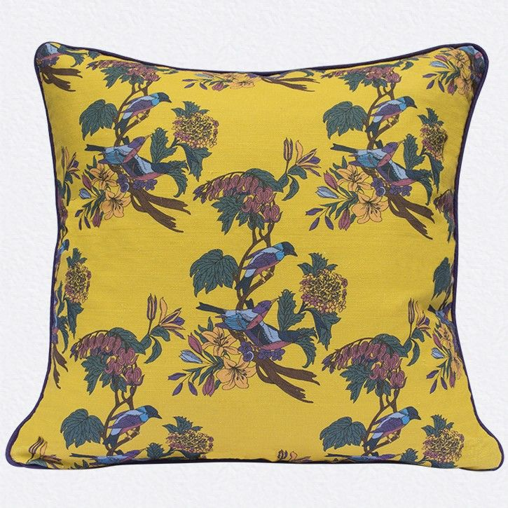 Golden Bunting Cushion Cover in yellow by Occipinti Stand F09 Hall 1 www.occipinti.com/shop