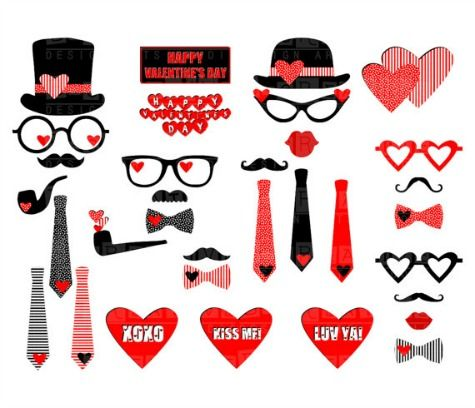 The Best Valentine's Day Printable Photo Booth Props