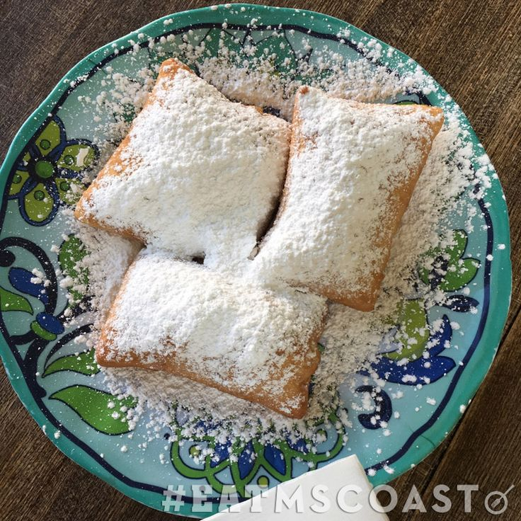 Delicious beignets at Le Cafe Beignet in Biloxi, Mississippi are a must when visiting the Mississippi Gulf Coast #MSCoastLife #EatMSCoast