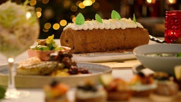 Dagelijkse kost - Kerstbûche op basis van speculaas en mascarpone