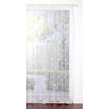 Filigree Monica Lace Rod Pocket Sheer Curtain