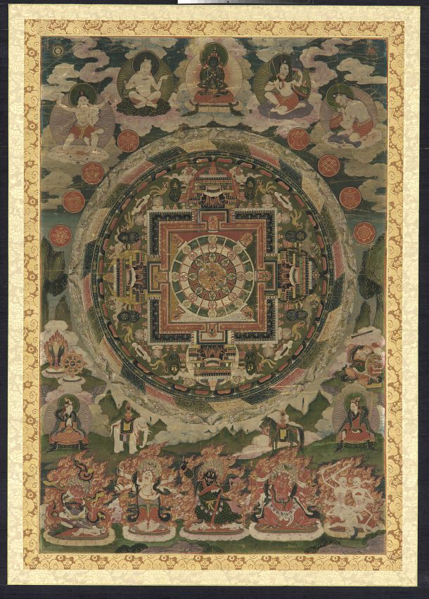 lamaist mandala buddhism mandala tibet dharmachakra. Black Bedroom Furniture Sets. Home Design Ideas
