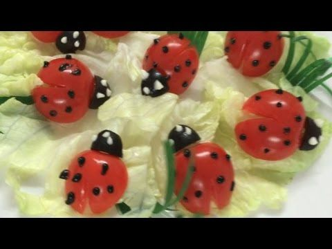 Beautiful ladybug | How to Make Tomato Decoration | By Just For Fun In Fruit And Vegetable Carving - YouTube