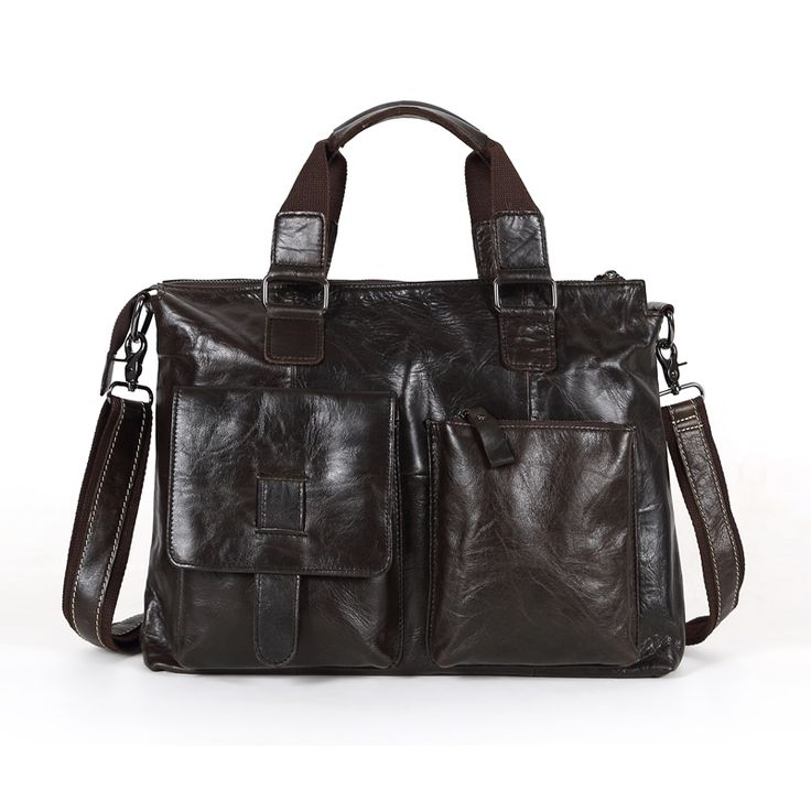 "56.99$  Buy now - http://alib2x.worldwells.pw/go.php?t=32750445535 - ""Vintage Men Briefcase Genuine Leather Bag Men Messenger Bags Dark Coffee 14"""" Laptop Handbag Portfolio #M260"" 56.99$"